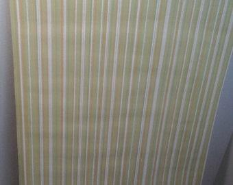 70s Striped Wallpaper Roll, 42 feet of Vintage Wallpaper, Avocado Green