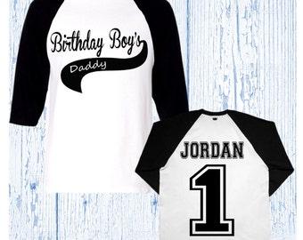 Birthday Boy Baseball Shirt - Birthday Boy Raglan Shirt - First Birthday Shirt