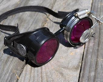 Steampunk Goggles, Steampunk, Goggles, Steampunk Eyewear, Purple Goggles, Gothic Goggles, Gothic Sunglasses, Victorian Glasses