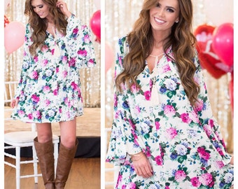 SALE!! Beautiful Floral Dress or Top