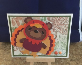 Bouncing Turkey Thanksgiving Card