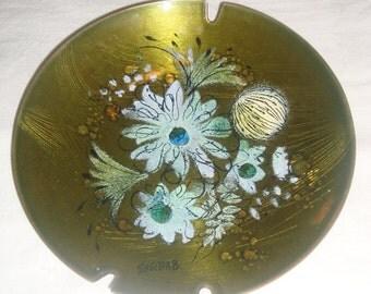 Sascha Brastoff Dish. Floral Ash Tray.