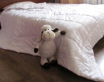 100% WOOL Organic Blanket /Woolen Quilt Duvet Comforter/Queen Kids Full King size/coverlet/Warm/Winter blanket/Chemical Free/ Bio processing