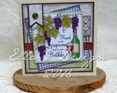 Grapevine predesigned card kit
