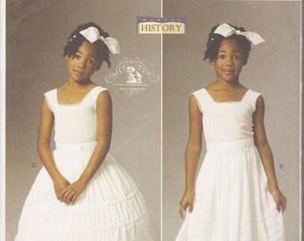Butterick sewing pattern 5901 Making History girls' Civil War under things hoop skirt drawers underskirt sizes 2-5 OOP