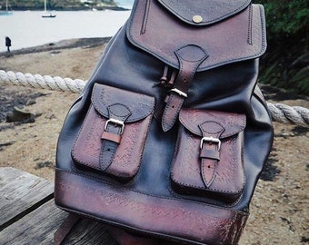 Rolando leather rucksack/ backpack