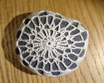 Crochet Lace River Stone