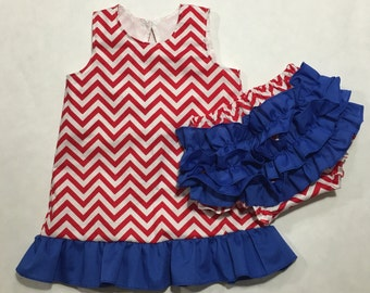 Patriotic Dress and bloomers