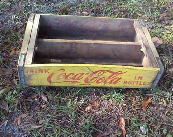 Coca Cola Collectible, Art Deco, Rustic Decor, Vintage Wood Crate, Bottle Holder, Farmhouse Decor