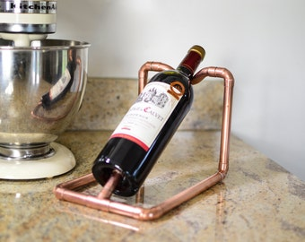 Wine Rack - Handmade from Reclaimed copper pipework - Perfect Unique Gift For House, Home and Kitchen