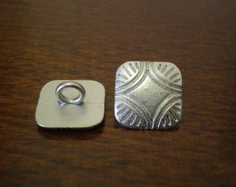 "3 - Silver Ray Metal Buttons with Shank 1/2"" (13mm)"