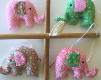 Elephants baby mobile