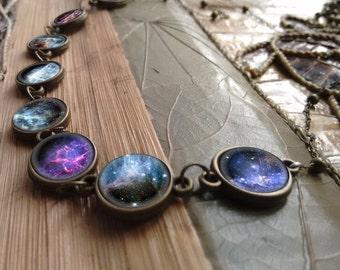 Galaxy bracelet, galaxy jewelry, nebula bracelet, stars bracelet, nebula jewelry, cosmic bracelet, interstellar bracelet, galaxy bracelet