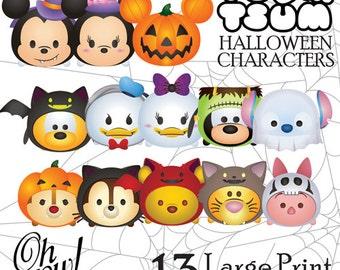 13 Tsum Tsum Halloween Character Digital Large Print Files