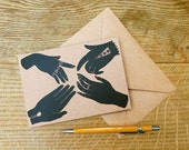 Greetings Card, 'Hands'