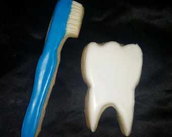 Toothbrush and Tooth Cookies!