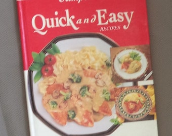 Campbell's cook book, Vintage cook book , Quick and easy recipes , hard back book