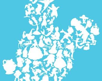 SVG Disney Mickey head characters - Mickey and disney character SVG Cut File - Cricut, ...