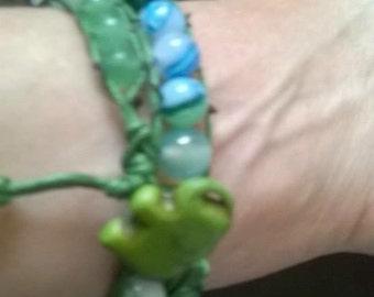 WB13 double wraparound gemstone bracelet