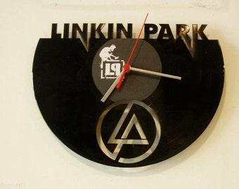 LINKIN PARK wallclock made of old used vinyl record.