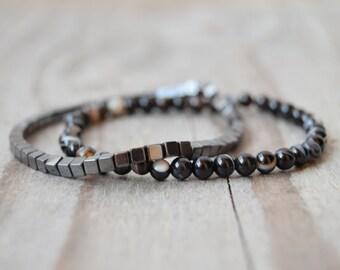 Men Jewelry Men Stack Bracelets Men Beaded Bracelet Mens Thin Bracelets Stretch Bracelets Men