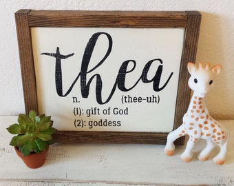 Personalized Rustic Wood Name Sign   Baby Name Meaning   Nursery Decor   Dictionary  Definition Sign