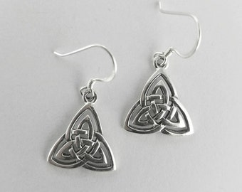 Trinity Earrings~Silver Celtic Trinity Earrings~Celtic Triquetra Earrings~Celtic Knot Earrings~Trinity Knot Earrings~Trinity Symbol Earrings