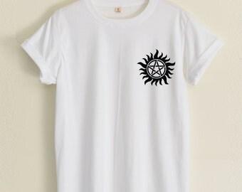 Anti-Possession shirt Supernatural Small Pic hipster fashion street unisex tumblr women&men clothing size S36'' M38'' L40'' XL44'' 2XL48''