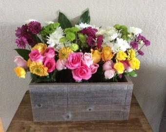 Rustic flower box