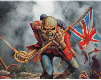 Iron Maiden Trooper Polygon Print (A2 = 420mm*594 or 16.5' * 23.4')