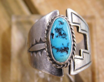 Adjustable Turquoise Sterling Silver Ring