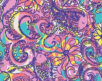 Lilly Pulitzer Patterned Vinyl Sheets 12 X 12 By