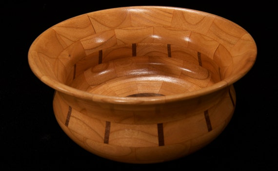 Hand Made Bowl, Segmented Cherry Bowl and Walnut Bowl, Hand Made Wood Bowl, Segmented Bowl