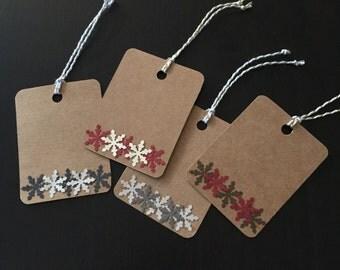 Snowflake Gift Tags - Set of 10