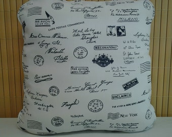 Cushion Cover White Navy 40x40 - B17