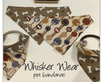 dog scarf, pet bandana, sizes XS-XL, pet scarf, dog bandana, pet clothing, pet attire, every day bandana, pet wear