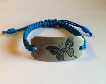 Macrame Butterfly Pendant