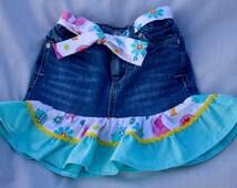 Cute little birdy Jean skirt size 24 months