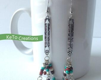 Earrings, Dangle Earrings, Southwest Earrings, Arrow Earrings