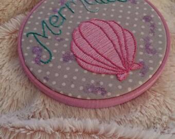 Mermaid Embroidered Hoop