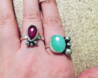 GREEN chrysoprase ring!