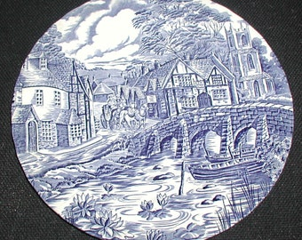Vintage Staffordshire Alfred Meakin The Post House Plate