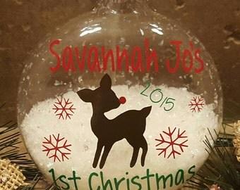 First Christmas, Ornament, Christmas Tree Ornament, Baby's First Christmas, Personalized Ornament