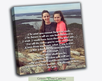 Custom poem for sister, Canvas Print, Gallery Wrapped, Words on canvas, Quotes for daughter, Perfect Gift for friend, Anniversary gift