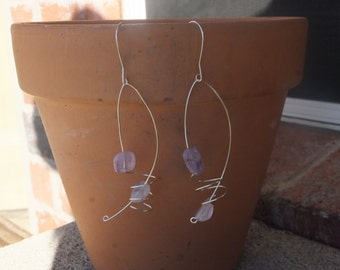 Curly Lavender Earrings