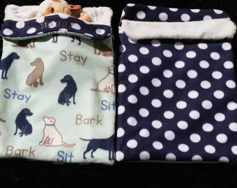 Pet Bed - Dog Blanket- Snuggle Sack - Burrow Sack - Crate Liner - Personalized Pet Gift