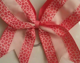cheerbow - pink leopard