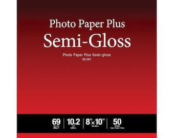 "Canon 1686B062 SG-201 Photo Paper Plus Semi-Gloss (8 x 10"", 50 Sheets)"