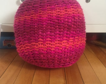Child Size Knit Pouf Ottoman