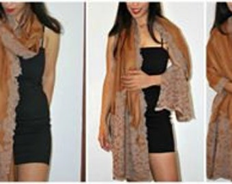 High Fashion Wrap/Shawl/Stole/Scarf/Silk/Gift/ Cashmere with Lace